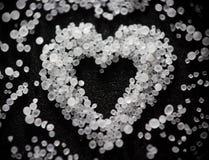 Salt hjärta för ovanlig _för valentin älskad arkivbild
