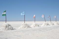 Salt hotell för turister på Uyuni de salta lägenheterna Royaltyfri Fotografi