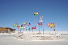 Salt hotell för turister på Uyuni de salta lägenheterna Royaltyfria Foton