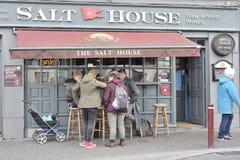 Salt husstång, Galway, Irland Juni 2017, förutom stången, a Arkivbild