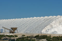 Salt industry. A salt industry process scene royalty free stock photo