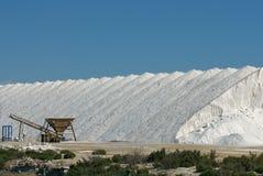 Salt industry. A salt industry process scene Royalty Free Stock Photo