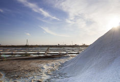 Salt industry. In the city of Aveiro - Portugal royalty free stock photo