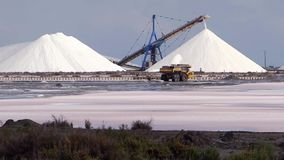 Salt industry stock video footage