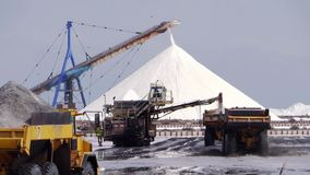 Salt industry stock footage
