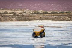 Salt industry in Namibia stock photos