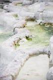 Salt-innehålla den naturliga mineralvattenspringbrunnen Arkivfoto