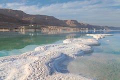 Salt kust för dött hav israel Fotografering för Bildbyråer