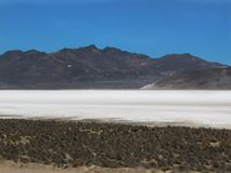 Salt Lagoon in Salinas Arequipa. Laguna de Salinas, shallow water salt located in the department of Arequipa Peru stock image