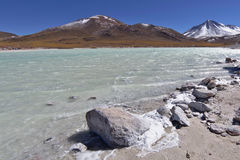 Salt lagun Arkivfoton