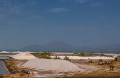 Salt Lake Afrera aka sjö Afdera eller Giulietti eller Egogi, avlägsna Danakil, Etiopien Arkivfoto