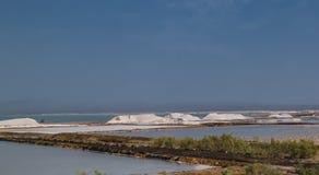 Salt Lake Afrera aka sjö Afdera eller Giulietti eller Egogi, avlägsna Danakil, Etiopien Arkivbilder