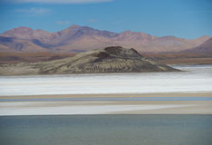Salt Lake on the Altiplano Stock Photo