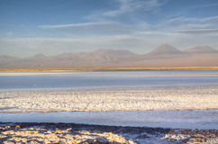 Salt lake in the Atacama desert Royalty Free Stock Photography