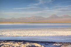 Salt lake in the Atacama desert. Chile Royalty Free Stock Photography