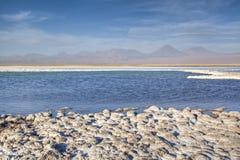 Salt lake in the Atacama desert. Chile Royalty Free Stock Image
