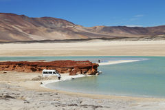 Salt Lake in Atacama-woestijn, Chili Stock Afbeelding