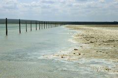 Salt lake Baskunchak Royalty Free Stock Photo