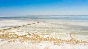 Salt lake Baskunchak. Astrakhan region. Russian landscape. royalty free stock photography