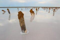 Salt lake Baskunchak. Steppe. Russia. Stock Photo