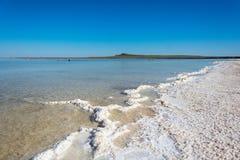 The salt lake Baskunchak. Stock Photos