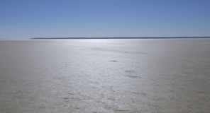 Salt Lake & Blue Sky. Salt Lake and Blue Sky in Central Anatolia Region Royalty Free Stock Photography