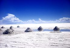 Salt lake in Bolivia salar de Uyuni Royalty Free Stock Photo