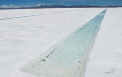 Salt lake chanel Royalty Free Stock Image