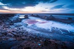 Salt lake. Chott el Djerid, Tunisia Stock Photography