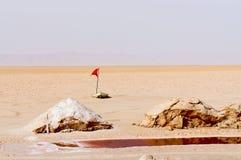 The salt lake of Chott el-Jerid in Tunisia Royalty Free Stock Photo