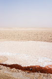 The salt lake of Chott el-Jerid in Tunisia Royalty Free Stock Image