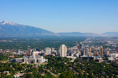 Salt Lake City. Aerial view of Salt Lake City, Utah Royalty Free Stock Photos