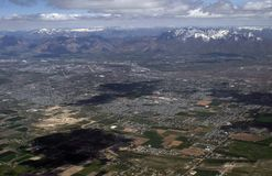 Salt Lake City from above Royalty Free Stock Image