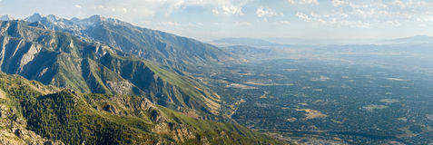 Salt Lake City aerial view. From Mount Olympus stock photos