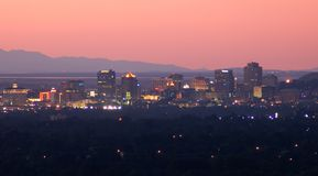 Salt Lake City céntrica fotografía de archivo libre de regalías