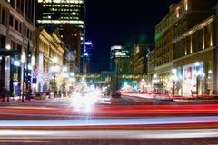 Salt Lake City céntrico en el tiempo de la Navidad Foto de archivo
