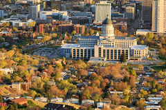 Salt Lake City capitol building. Spring sunset above Salt Lake City, Utah,  USA Stock Image