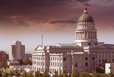 Salt Lake City Capitol Stock Photo