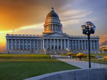 Salt Lake City Capitol, Utah, USA. Salt Lake City Capitol, street view.  Utah, United States Royalty Free Stock Images