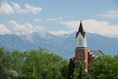 Salt Lake City church Royalty Free Stock Photography