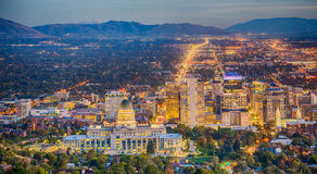 Salt Lake City da baixa Fotografia de Stock Royalty Free
