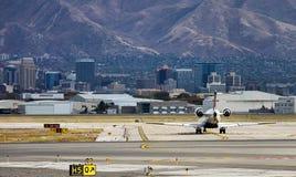 Salt Lake City de stad in royalty-vrije stock foto