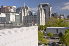 Salt Lake city downtown city view. Salt Lake city Utah downtown architecture and landmarks Royalty Free Stock Photo