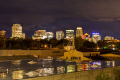 Salt Lake city downtown in distance Royalty Free Stock Image