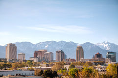 Salt Lake City downtown overview Stock Images