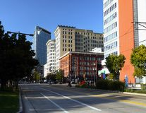 Salt Lake City Downtown, Utah, USA. Salt Lake City downtown, street view.  Utah, United States Stock Image