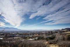 Salt Lake City e céu Fotografia de Stock Royalty Free