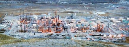 SALT LAKE CITY, EUA - 20 DE FEVEREIRO DE 2015: Refinaria de petróleo de Chevron em imagem de stock royalty free