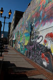 Salt Lake City: Graffiti Wall Stock Images