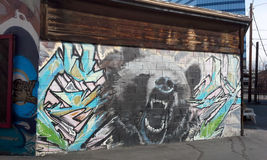 Salt Lake City: Graffitimuur Stock Afbeelding